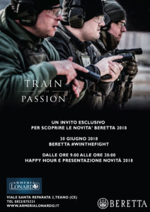 TRAIN WITH PASSION EVENTO BERETTA 30 GIUGNO 2018 ORE 9:00-20:00